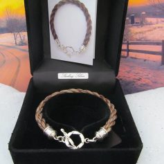 Plain Braid Braclet with Round Rope Toggle Clasp