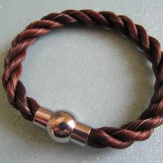 Plain braid with Stainless steel magnetic plain ball clasp