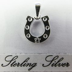 SSHS MS3 Sterling Silver Crystal Horseshoe
